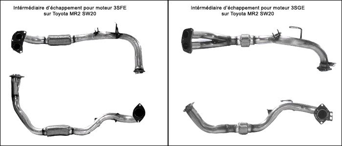 toyota mr2 sw20 intermediaire echappement exhaust 3SGE 3SFE